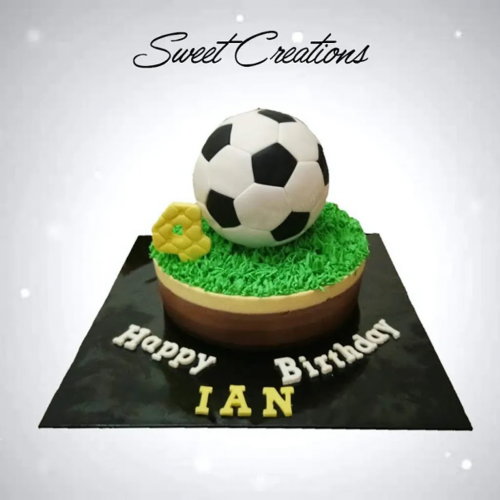 Triple Chocolate Cheese with Soccer football Theme