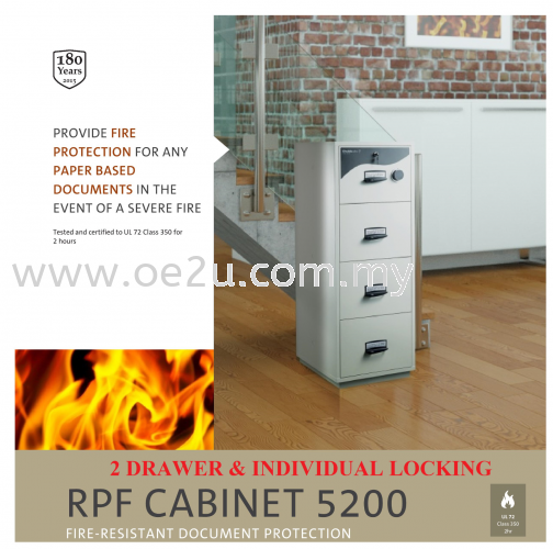 Chubbsafes 2 Drawer RPF Cabinet 5200 (Individual Locking)_200kg