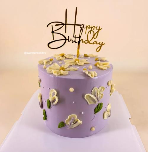 Korean Ins Floral Cake - Buttercream Cake