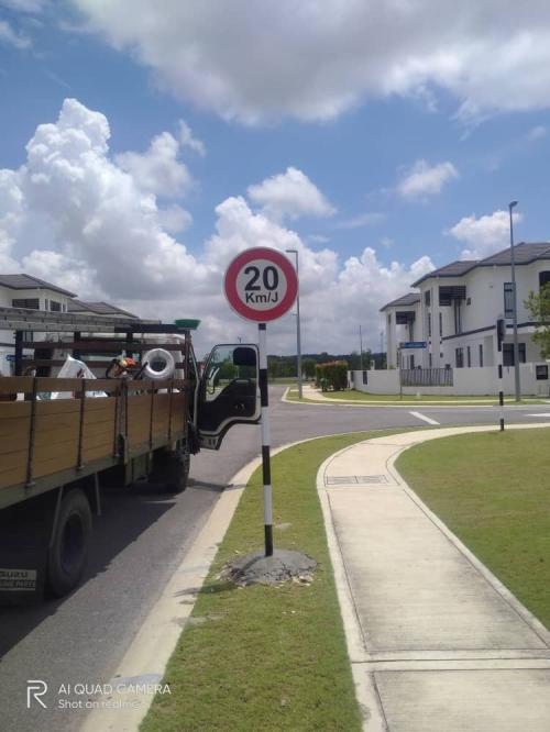 Road Sign At Malaysia