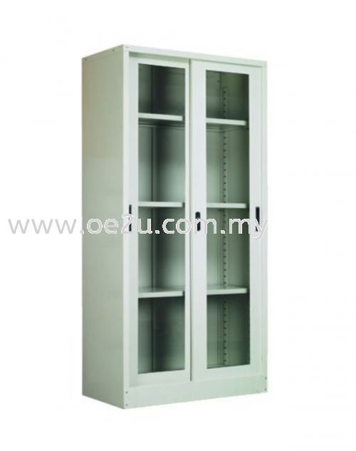 Full Height Glass Sliding Door Cupboard