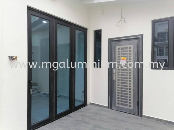 Bifold Door (2021) Bifold Door (2021) Aluminium Door Johor Bahru (JB), Johor. Design, Installation, Supply   MG Aluminium & Glass Works
