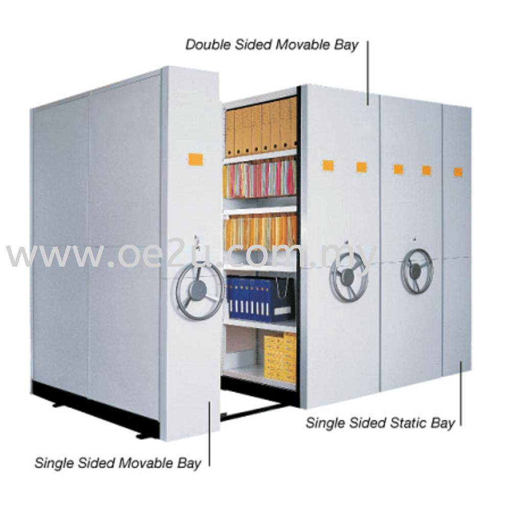 LION Mechanical Mobile Filing System (6 Bay Length ; 2 Bay Deep)
