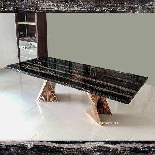 Majestic Dining Table | Silver Perlatino | 8-10 Seaters