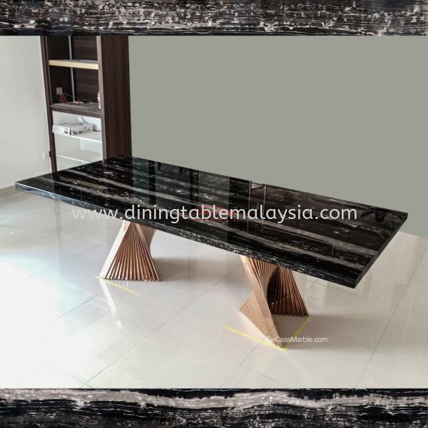 Majestic Dining Table | Silver Perlatino | 8-10 Seaters Marble Dining Table Malaysia, Selangor Supplier, Wholesaler | DeCasa Marble Sdn Bhd