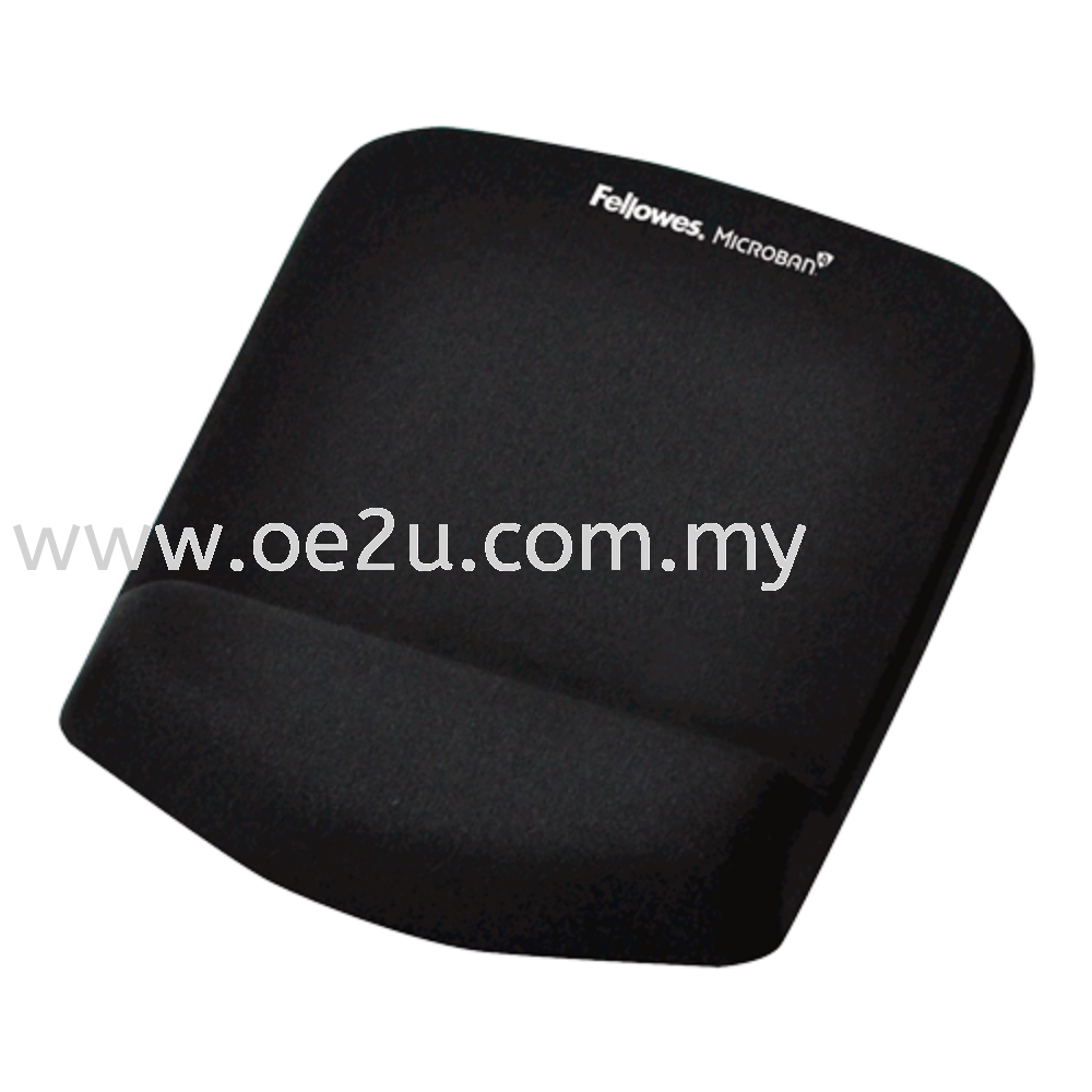 Fellowes PlushTouch Mouse Pad Wrist Rest with Microban
