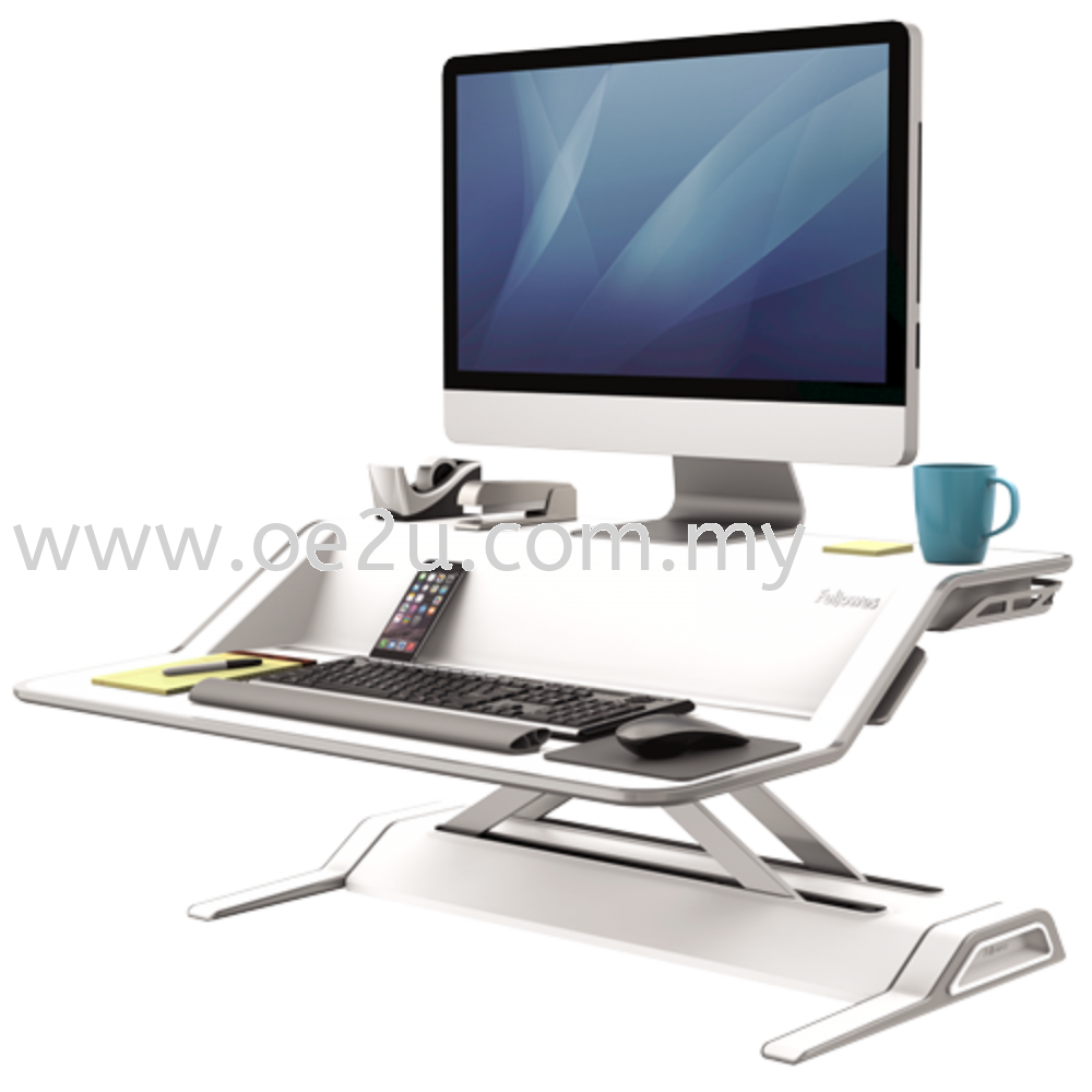 Fellowes Lotus Sit-Stand Workstation - White