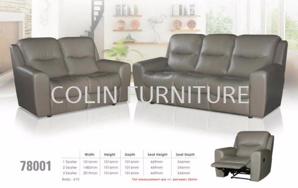 AMZEMC R 78001 1Recliner+2S+3S Sofa RECLINER SOFA SETS PVC/PU/LEATHER SOFA SOFA Kedah, Malaysia, Kulim Supplier, Suppliers, Supply, Supplies | Colin Furniture Trading