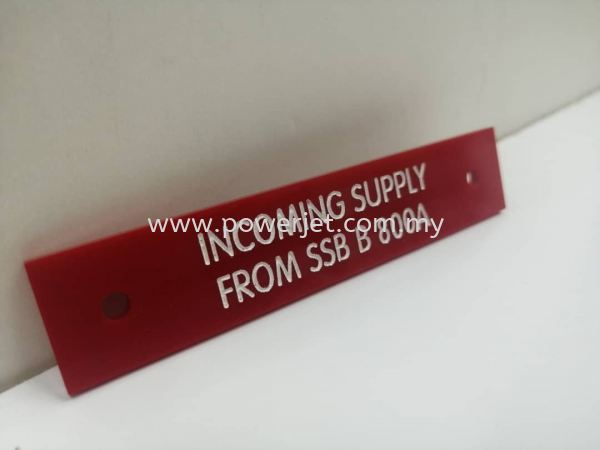 Laser Engraving Service on Acrylic Tag LASER CUTTING / ENGRAVING Puchong, Selangor, Malaysia Supply, Design, Installation | Power Jet Solution Sdn Bhd