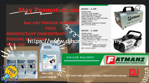 May21 promotion 📢📢📢📢  Buy 1 machine   PTMODA800  OR  PTMODA1000  FREE   1liter A85 - worth rm40.