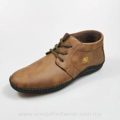 GREEN POINT Extra Size Men Shoe -GP-83-8842-KHAKI Colour