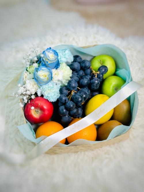 Vitamin Fruits & flowers Basket