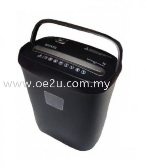 BIOSYSTEM V6 Paper Shredder (Cross Cut)