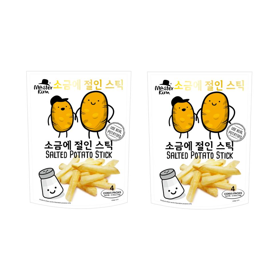 Master Kim Salted Potato Stick 72g Stand Pouch (Small Potato Sticks Produce)