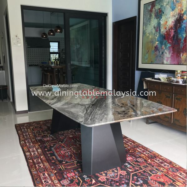 Luxury Dining Table   Arabescato Orobico   8-10 Seaters   Italian Marble Marble Dining Table Malaysia, KL Manufacturer, Exporter   DeCasa Marble Sdn Bhd