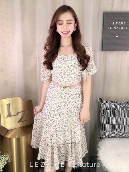 11344 Floral Wrap Sleeved Dress¡¾Value Buy¡¿ Dresses On Sale SALE  Selangor, Kuala Lumpur (KL), Malaysia, Serdang, Puchong  | LE ZONE Signature