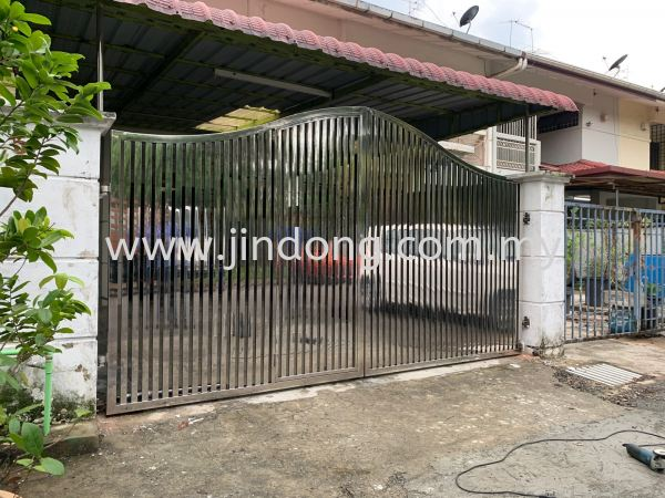 Stainless Steel Main Gate Johor Bahru (JB), Malaysia, Ulu Tiram Supplier, Suppliers, Supply, Supplies | Jin Dong Invisible Grille & Jin Dong Steel Works (M) Sdn Bhd