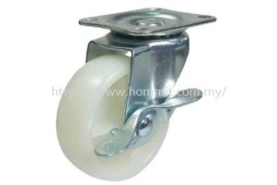Nylon Castor (With Brake) Furniture Rollers & Castors Selangor, Malaysia, Kuala Lumpur (KL), Klang Supplier, Suppliers, Supply, Supplies   HOMMIT HARDWARE TRADING SDN. BHD.