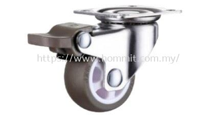 Plate Wheel Castor with Brake Furniture Rollers & Castors Selangor, Malaysia, Kuala Lumpur (KL), Klang Supplier, Suppliers, Supply, Supplies | HOMMIT HARDWARE TRADING SDN. BHD.