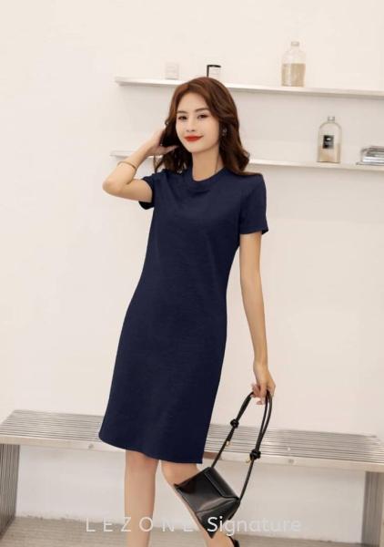 6865BD  High-Neck Sleeved Dress Sleeved Dresses DRESS  Selangor, Kuala Lumpur (KL), Malaysia, Serdang, Puchong  | LE ZONE Signature