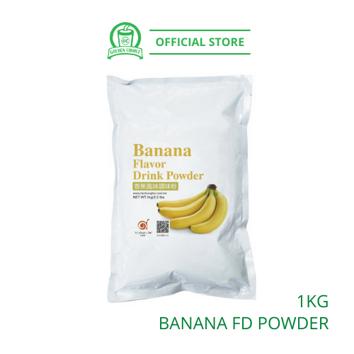Banana Flavor Drink Powder 1kg- Taiwan Imported | Flavor Bubble Tea | Smoothies | Ice Blended