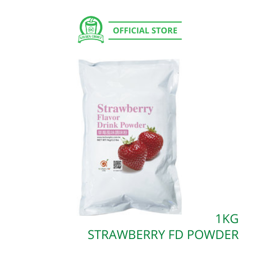 Strawberry Flavor Drink Powder 1kg - Taiwan Imported | Flavor Bubble Tea | Smoothies | Ice Blended