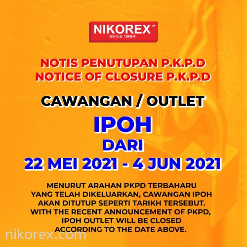 IPOH OUTLET 𝗡𝗢𝗧𝗜𝗖𝗘 𝗢𝗙 𝗖𝗟𝗢𝗦𝗨𝗥𝗘 𝗣.𝗞.𝗣.𝗗