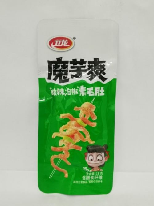 Wei Long Sour & Spicy Flavoured 卫龙 酸辣泡椒素毛肚 18g