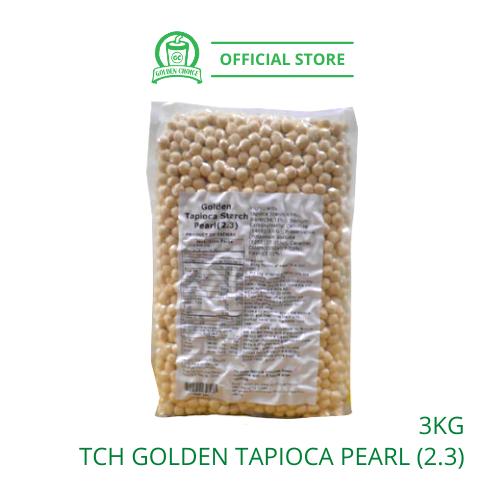 BLACK TAPIOCA BOBA PEARL 3KG (2.3) 琥珀金粉圆珍珠 - Raw Boba | Bubble Tea Recipe | Ta Chung Ho | Taiwan Imported