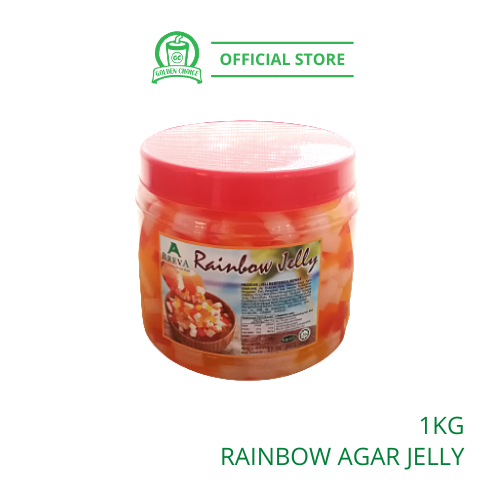 RAINBOW JELLY AGAR 1KG - Topping | Stick Shape | Colorful