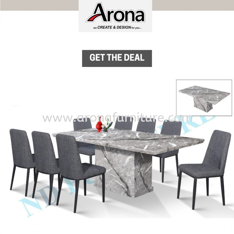 1+8 MARBLE 2M DINING SET