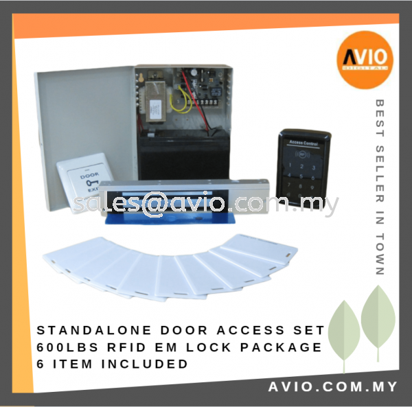 Standalone Door Access RFID ID Electromagnetic Magnetic EM Lock Package Set with Power Supply Battery DA3000-PKG A Door Access Package DOOR ACCESS Johor Bahru (JB), Kempas Supplier, Suppliers, Supply, Supplies | Avio Digital