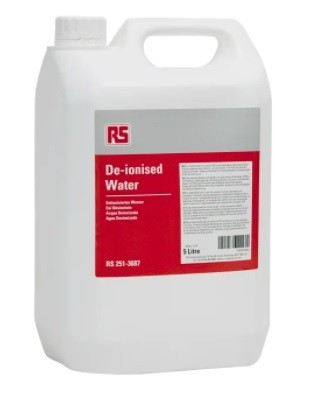 251-3687 RS PRO 5 L Can Deionized Water for PCBs