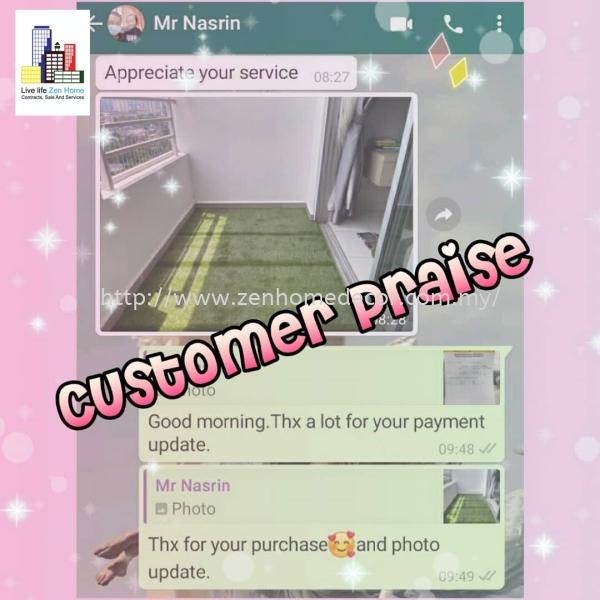 Customer Praise Grass Carpet & Grass Selangor, Malaysia, Kuala Lumpur (KL), Puchong, Shah Alam Supplier, Suppliers, Supply, Supplies | Zen Home Decor