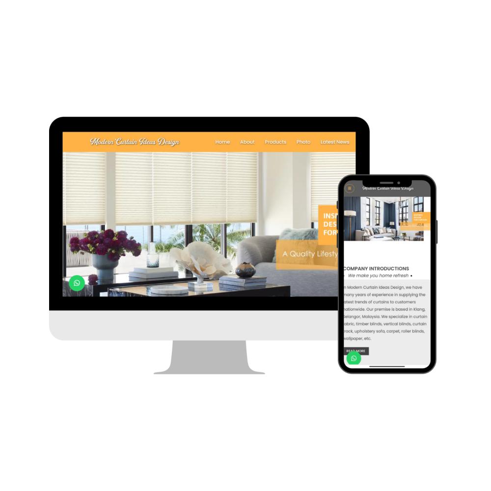 Selangor, Malaysia Web Design | Curtain Shop