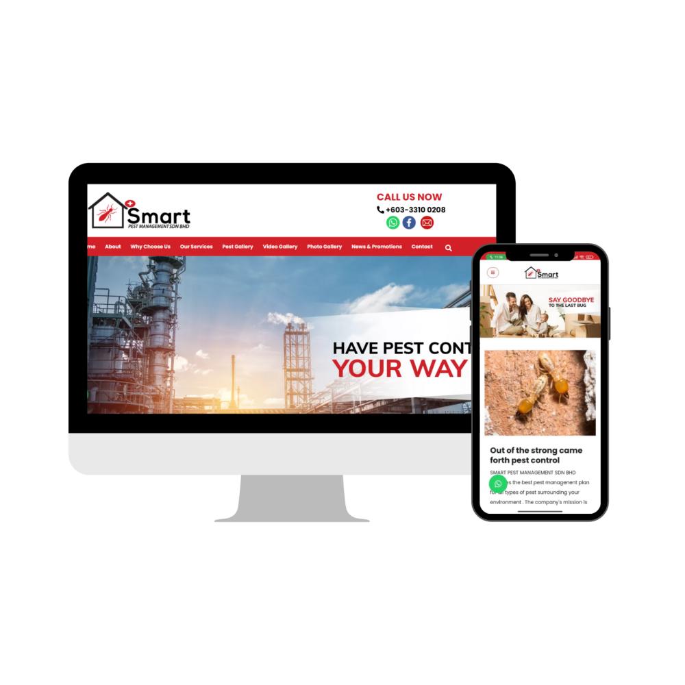 Selangor Web Design   Website Design - Pest Control