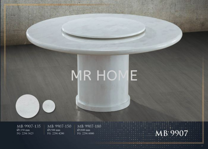 1.8M ROUND 10 SEATER MARBLE TABLE