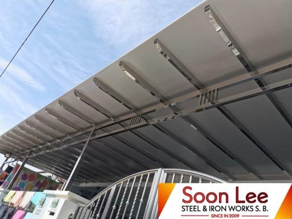 Stainless Steel Aluminium Composite Panel  AWNING Johor Bahru (JB), Malaysia, Ulu Tiram Supplier, Suppliers, Supply, Supplies | Soon Lee Steel & Iron Works Sdn Bhd
