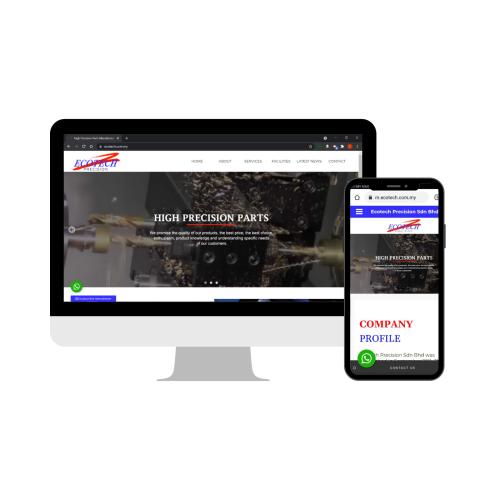 Melaka (Malacca) Website Design - High Precision Parts