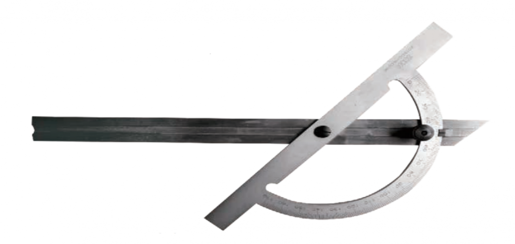 180° Adjustable Stainless Steel Protractor - 100 x 150mm
