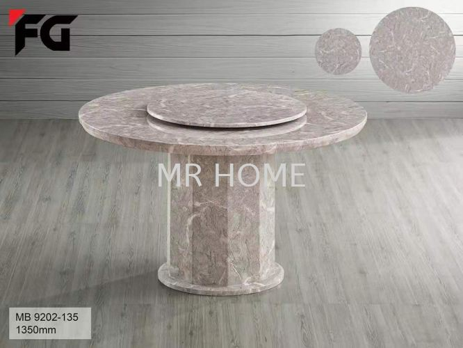 1.35M ROUND 6 SEATER MARBLE TABLE