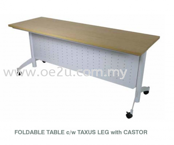 Foldable Training Table c/w Taxus Leg with Castor