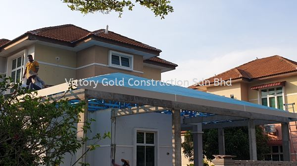 Roof trusses work. Roof Truss Melaka, Malaysia, Bukit Katil Service, Supplier, Supply, Supplies | VICTORY GOLD CONSTRUCTION SDN BHD