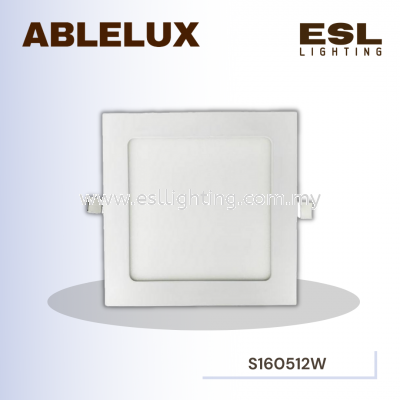 ABLELUX 12W SQUARE LED RECESSED DOWNLIGHT 1080LUMEN POWER FACTOR 0.9 AC85-265V ISOLATED DRIVER