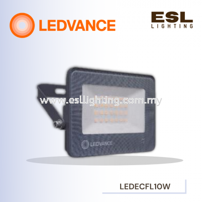 LEDVANCE LED ECO FLOODLIGHT/SPOTLIGHT 10W POWER FACTOR 0.9 3000K 4000K 6500K OUTDOOR LIGHT