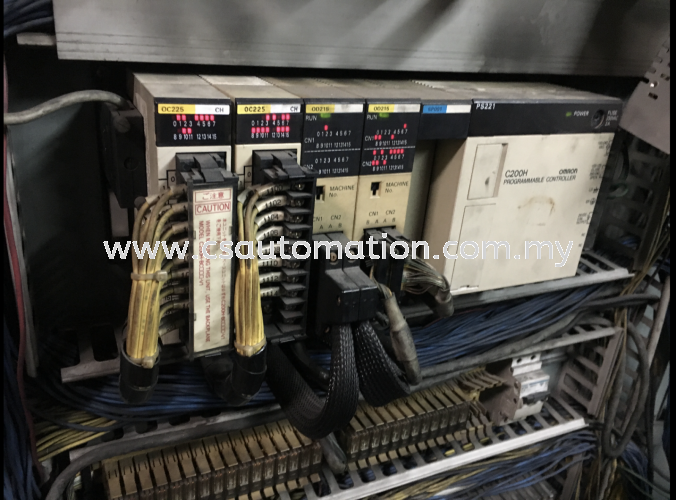 Omron Plc C200H on site trouble shooting service , change 16pt contact output OC225 & input OD215