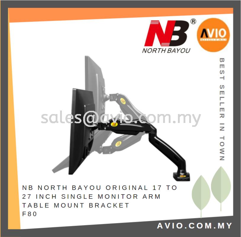 NB North Bayou Original 17 - 27 Inch Single Arm Table Mount Monitor Bracket F80