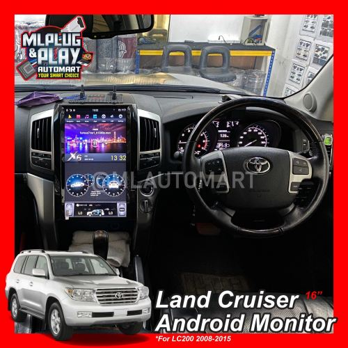 """Toyota Land Cruiser LC200 2008-2015 - 16"""" Big Screen Touch Screen Android Monitor"""