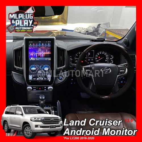 """Toyota Land Cruiser LC200 2016-2020 - 13.6"""" Big Screen Touch Screen Android Monitor"""
