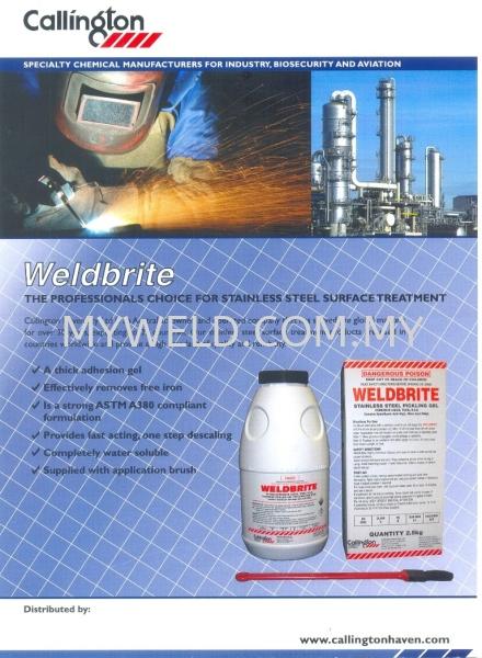 stainless steel surface treament @WeldBrite Calington Chemical Selangor, Malaysia, Kuala Lumpur (KL), Balakong Supplier, Distributor, Supply, Supplies   Myweld Equipment & Gases Sdn Bhd
